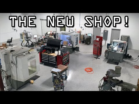 The New Machine Shop!  Moving, Construction And Tour!