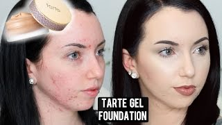 Tarte Empowered Hybrid Gel Foundation First Impression Review & Demo (Acne/Pale Skin)