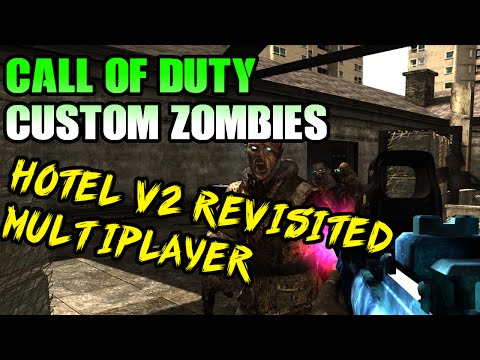 """Call Of Duty Custom Zombies """"Hotel v2"""" Co-Op Multiplayer Gameplay WAW"""