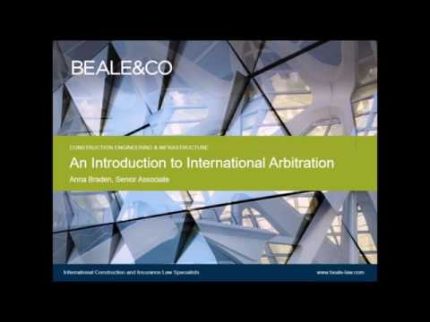 Webinar: An introduction to arbitration