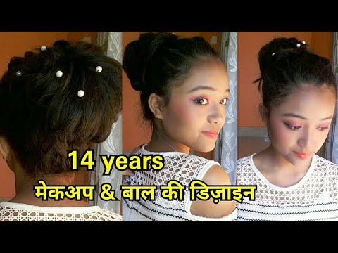 Teenage girl makeup hairstyle  2019 Makeup tutorial