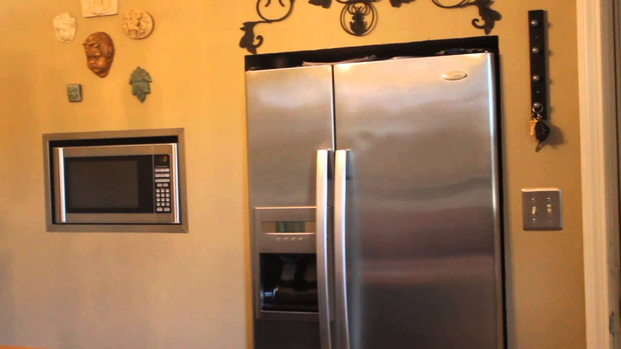 Diy Refrigerator Amp Microwave In Bumped Out Wall Youtube