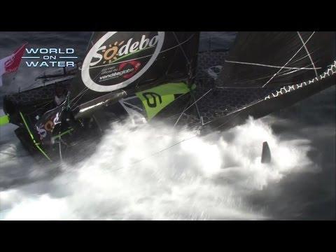 World on Water Vendee Globe Nov 20 16 Are the Wheels .. Sorry .. Wings falling off Hugo Boss