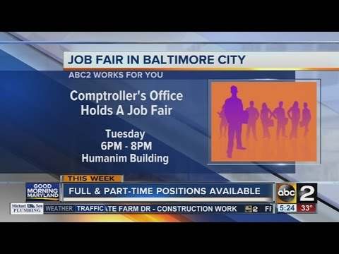 Maryland Comptroller's Office to host Baltimore City Job Fair