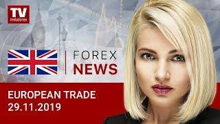 InstaForex tv news: 29.11.2019: Euro and pound remain under pressure