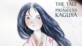 Illustration Princess Kaguya paint