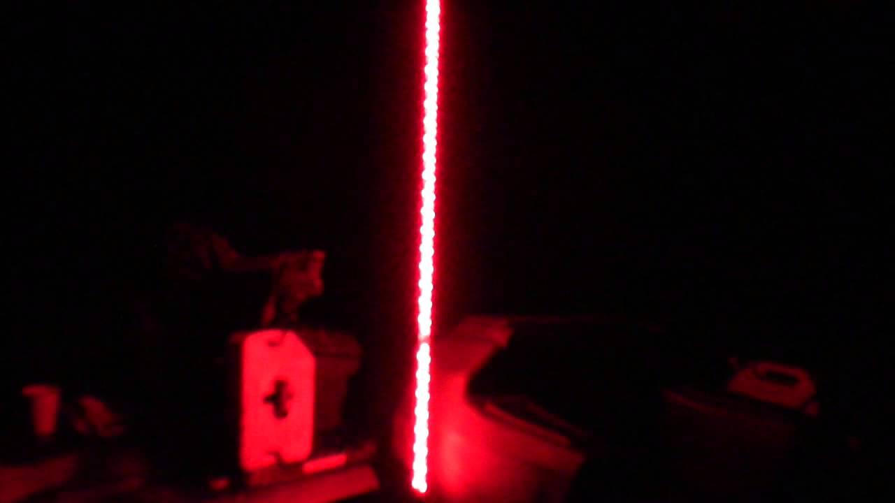 diy atv led lighted whip youtube