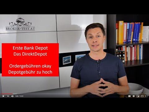 Erste Bank Wertpapierdepot: Direktdepot als günstiges Depot, aber mit fast 0,28 % Depotgebühr