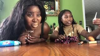 the blind folded make up challenge ft the taylorgirlz