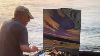 Cayuga Evening Plein Air, oil painting- with Brian Keeler