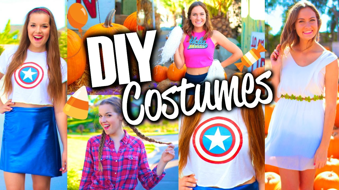 sc 1 st  YouTube & Easy u0026 Cute DIY Halloween Costumes for Teens! - YouTube
