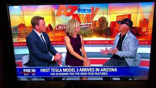 Tesla model 3 interview on Fox 10 11/17