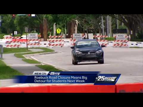 Roebuck Road closure means big detour for students next week