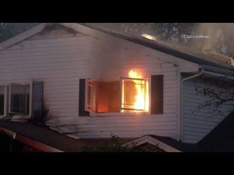 House Fire on Crest Avenue, Elk Grove Village -- Citizens Rescue, No Injuries