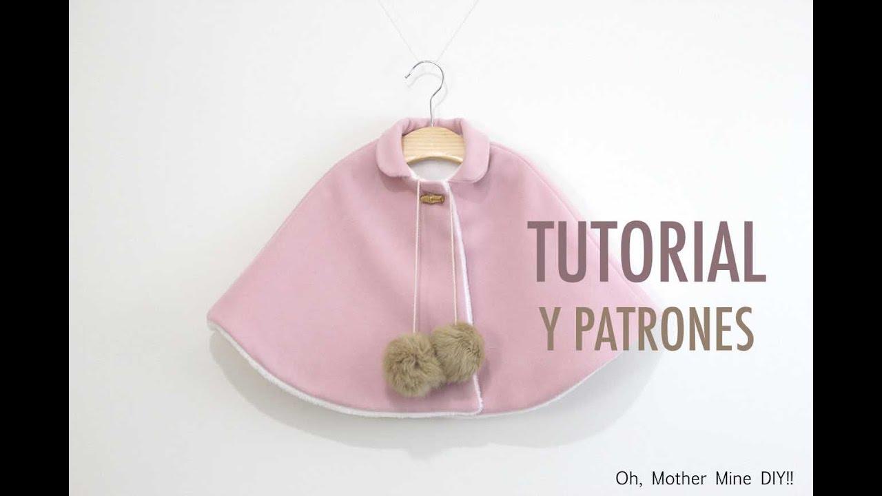 DIY Patrones gratis ABRIGO CAPA DE NIÑA - YouTube
