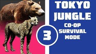 Let's Play Tokyo Jungle Co-op (Survival Mode) Part 3 - Cheetah and Kawaii Bear