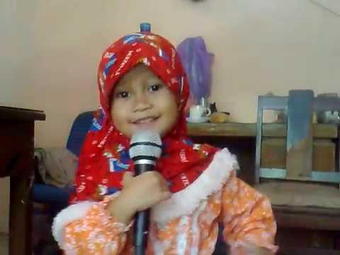 Video anak kecil menyanyai karaoke Cover song by NDX A.K.A - Sayang