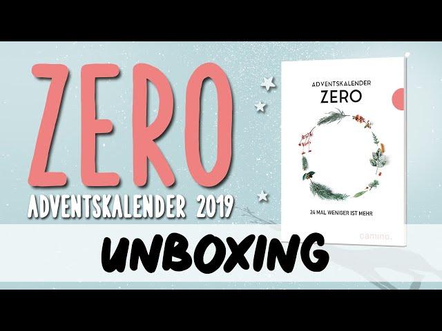 Zero Adventskalender 2019 Inhalt Unboxing