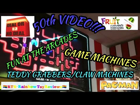 50th Video - Fun At The Arcades - Pac Man, Fruit Ninja, Deal Or No Deal Games Machines Plus More!!!