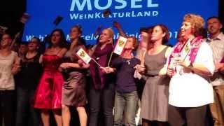 Der Ort Kröv feiert die neue Mosel-Weinkönigin