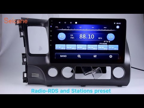 10.1 Inch HD Touch Screen 2006-2011 Honda Civic Radio GPS Navigation Head Unit With USB Aux