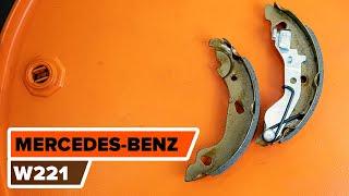 Как и кога се сменя предни и задни Накладки за ръчна спирачка на MERCEDES-BENZ S-CLASS (W221): видео урок