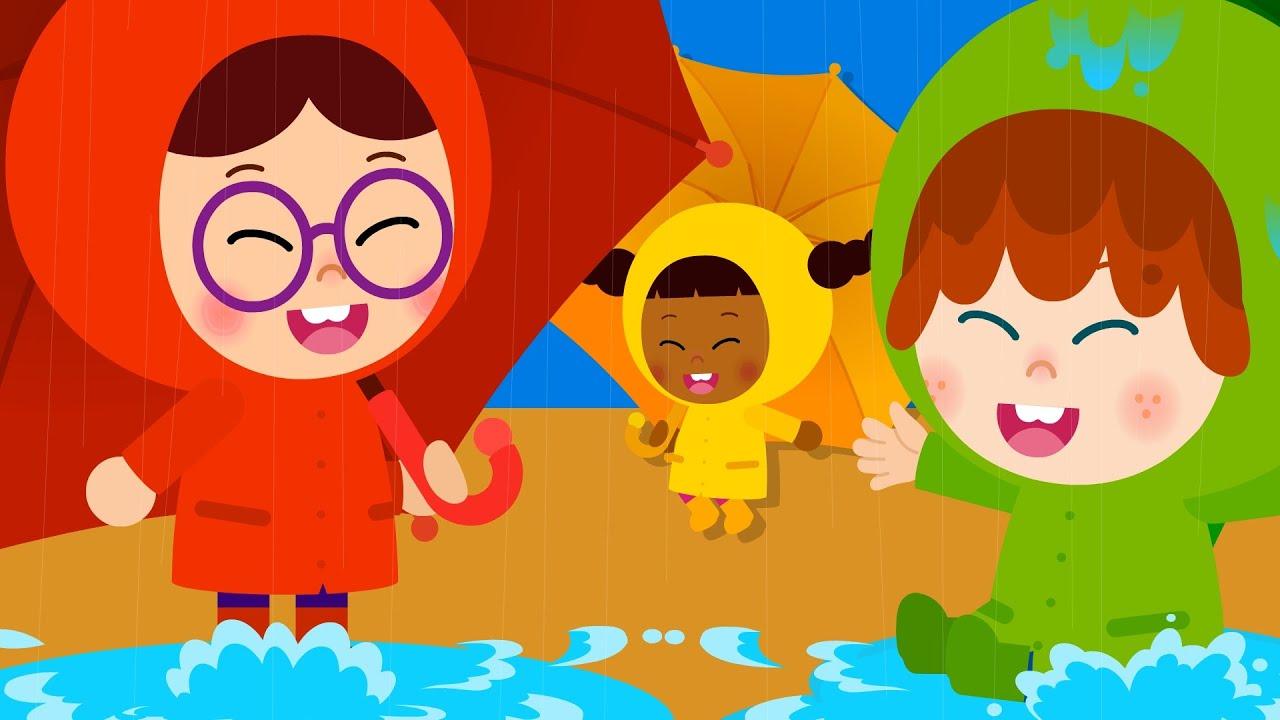 우산송 ♪ | 첨벙첨벙 주룩주룩! | 생활동요 | 율동동요 | 티디키즈★지니키즈