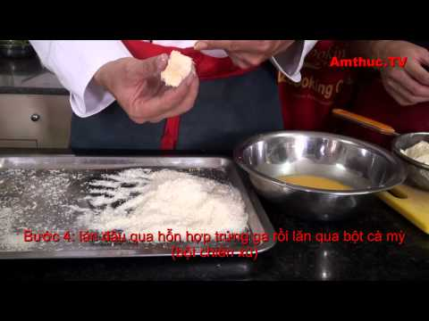 Đậu phụ rán trứng muối (Vào bếp cùng Sao - số 31) - tapchiamthuc.vn - amthuc.tv