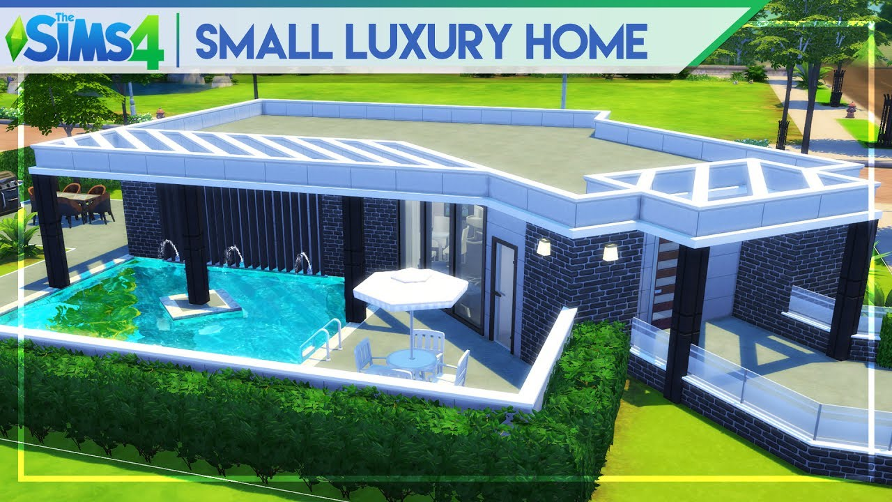 Small luxury home the sims 4 speed house building no cc