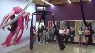Воздушное полотно в школе танцев Study-On, Челябинск, 2017