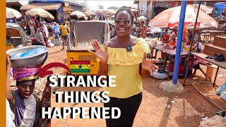 WHY DID SHE FOLLOW US AT THIS GHANA MARKET  LIVING IN GHANA  GHANA LIFE
