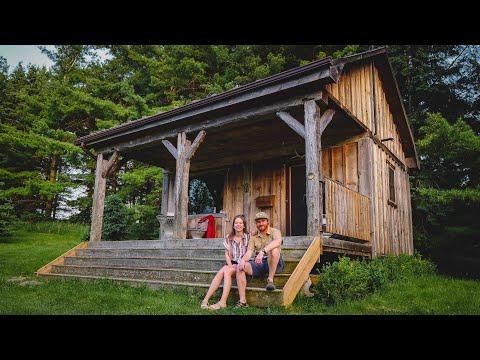 Off-Grid Cabin-tour in Canada Klein huis op minder dan 1 uur van Toronto, Ontari