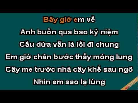 Cay Cau Dua Karaoke - Ngọc Sơn - CaoCuongPro