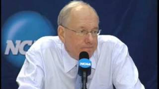 "Jim Boeheim upset with ""idiots"" asking Jonny Flynn about the NBA!"