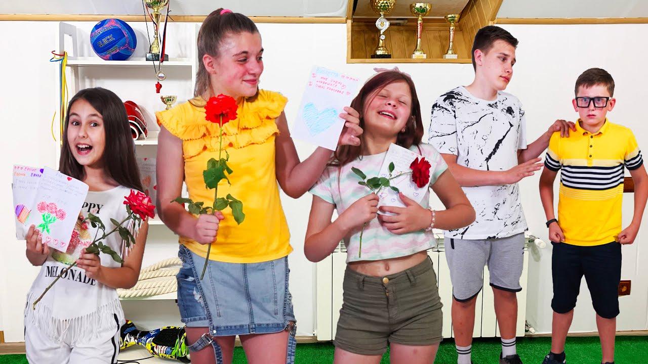 ¡El admirador secreto envía cartas de amor! ¡Eva y sus amigas le dieron una lección al mujeriego!