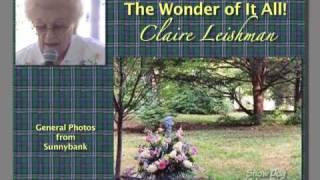 SUNNYBANK 2009 SPEECH BY CLAIRE LEISHMAN