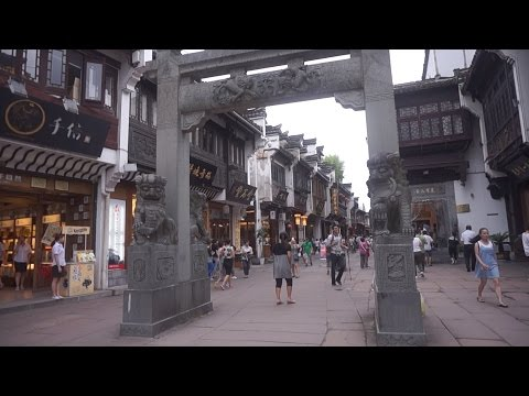 [Walking tour 漫步遊] Ancient Street in Huangshan City Anhui China 安徽 黃山市  宋代老街