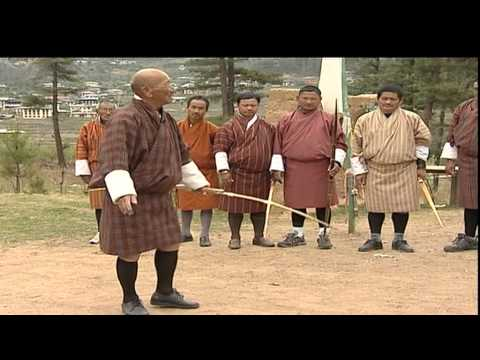 Traditional way of Archery in Bhutan