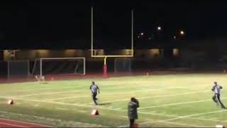 Whitetail Deer Lead Blocks On A HS Football Kickoff TD Return