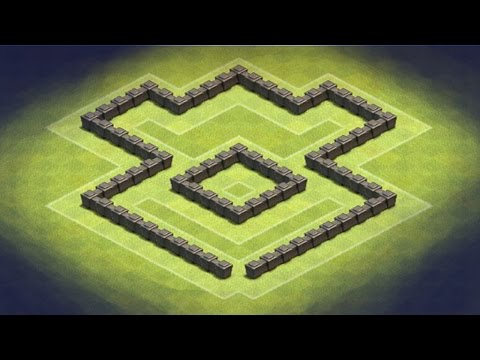 Clash of Clans - TH4 Hybrid Base (Logo)
