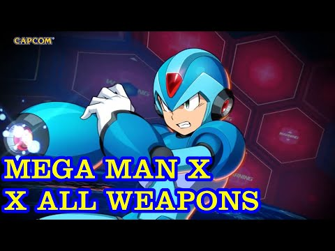 Megaman X - X All Weapons