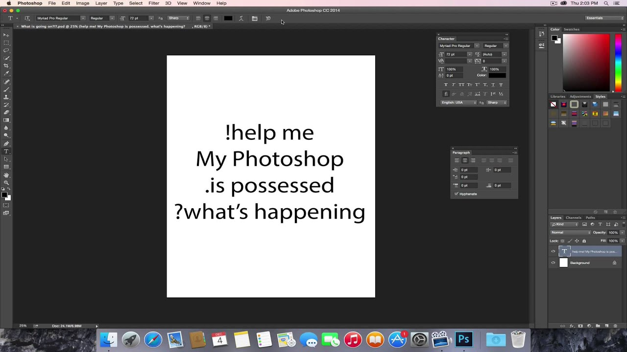 photoshop video how to make a text appear and disappear