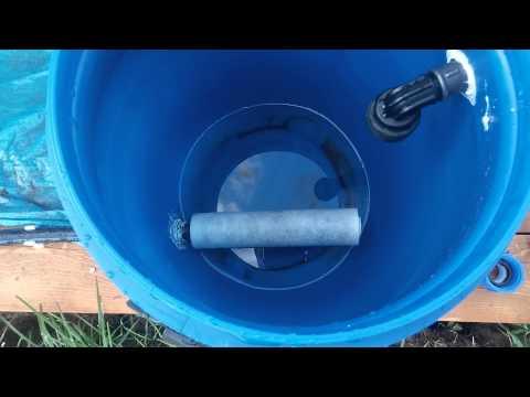 Фильтр в бассейн своими руками видео