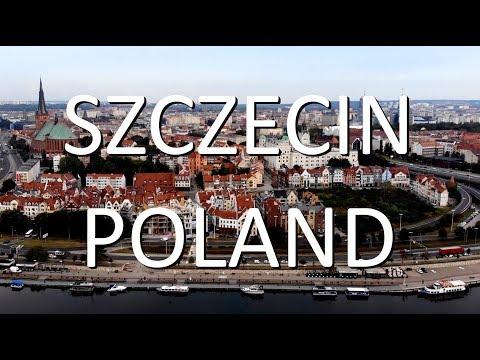 Szczecin 2020 z lotu ptaka. Szczecin, Poland by drone.