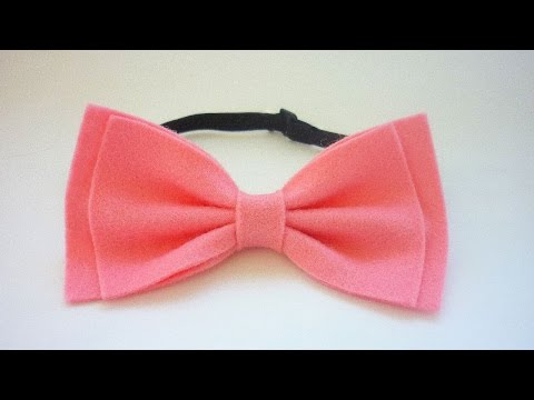 How To Make Glamourous Tie Bow Of Felt
