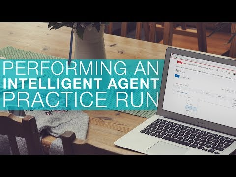 Performing an Intelligent Agent Practice Run
