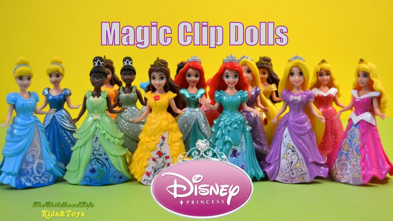 Dress up princess doll - Disney Princess Dress Up Magic Clip Doll Toys For Girls