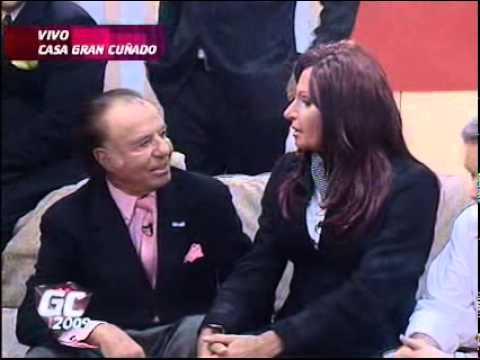 Showmatch 2009 - Carlos Menem visita la casa de Gran Cuñado