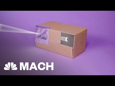 Having Trouble Finding Eclipse Glasses? Build Your Own Eclipse Viewer | Mach | NBC News