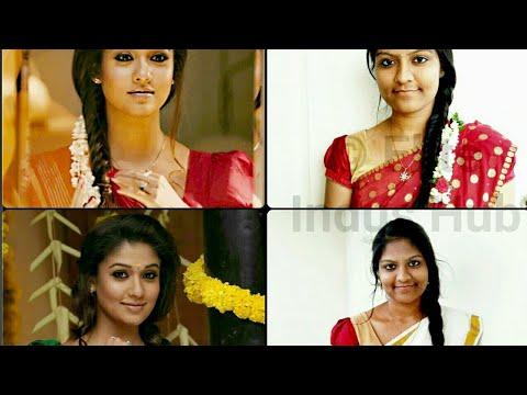 Nayanthara Raja Rani Hairstyle 2 Easy Side Swept Braided